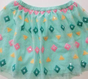 Cat & Jack girl's skirt size S 6 6X green tulle